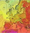 tlak a teplota nad Evropou